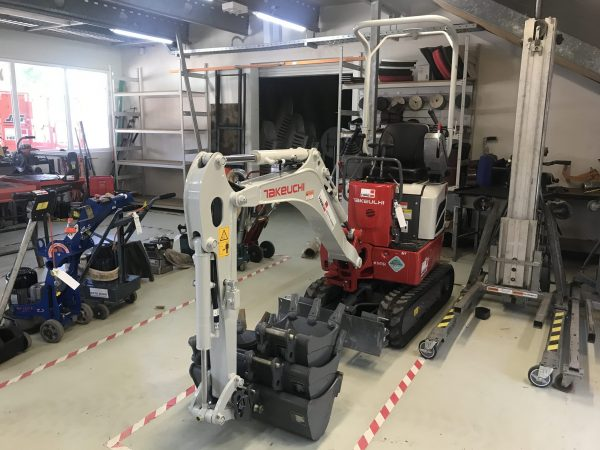 Mini Excavator iside Showroom